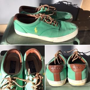 Vintage PRL 'Vaughn' Canvas sneaks, EUC